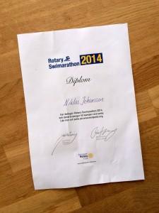 Diplom Rotary Swimarathon